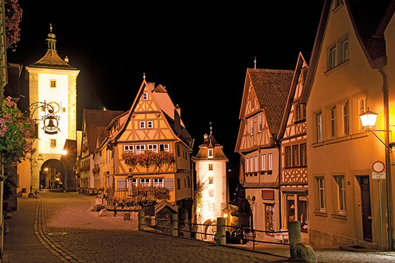 Altstadt in Rothenburg ob der Tauber